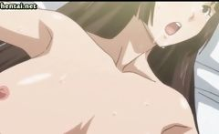 Hentai Brunette Licking A Hard Cock